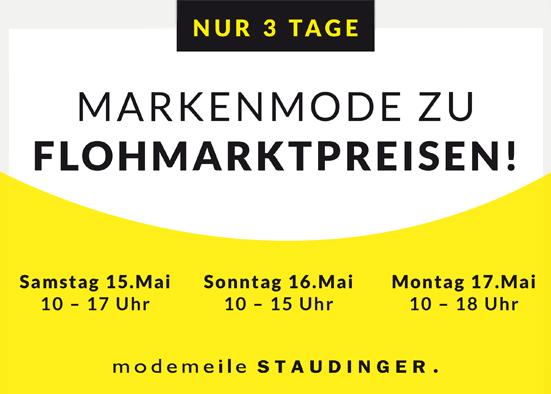 Salzburg-Cityguide - events - OK_modemeile_STAUDINGER_Nur3TAGE_SF
