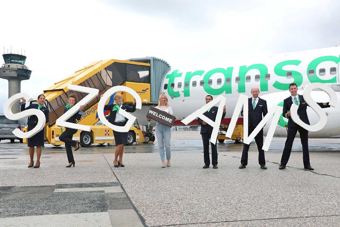 Salzburg-Cityguide - Fotoarchiv - EREIGNIS-080721-Erstlandung-Ganzjahresverbindung-Amsterdam-mit-Transavia-(1)